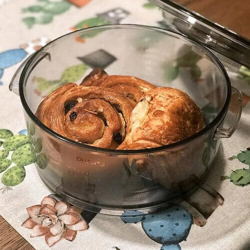 17 Preserve the croissant with our vacuum containers, good even the next day as just made!